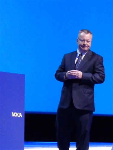 Stephen Elop, Nokia President and CEO got the crowd excited when he introduced the new Nokia Lumia 800 and Lumia 710 smartphones running on the Windows Phone operating system