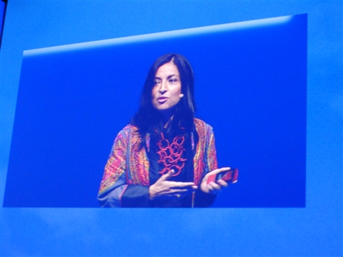 Blanca Juti introduced the new Asha (derived from Hindi – meaning 'hope') line of phones that caters to users in emerging markets like South America, India and China