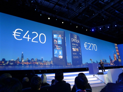 Stephen Elop had the crowd gasping in disbelief when he revealed the competitive pricing for the new Lumia 800 and Lumia 710