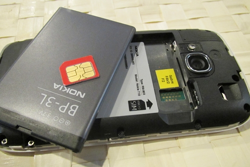 Yes, that's right - the Lumia 710 requires a micro SIM card.