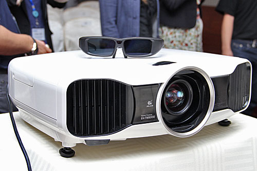 The Epson EH-TW8000 is the company's flagship 3D/full HD home theater projector. The 480Hz frame refresh rate is twice as fast as other 3D projectors.