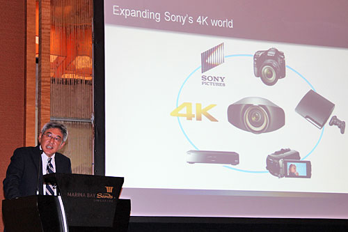 According to Mr. Tsuyoshi Nagata (GM for Presentation Display, Professional Solutions Company, Sony Electronics Asia Pacific), there are now over 10,000 units of Sony Digital Cinema 4K projectors deployed in cinemas around the world.