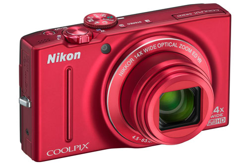 The 16.1-megapixel Coolpix S8200 has a versatile 14x zoom lens. It comes in either black, silver, or red.