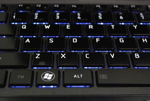 Keyboard backlighting makes typing in low light a breeze.