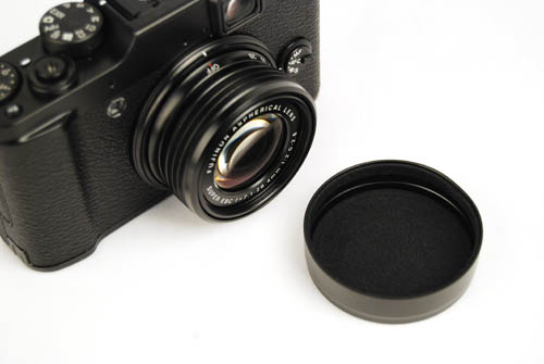 You'll have to find somewhere to keep the X10's (beautiful metal) lens cover.