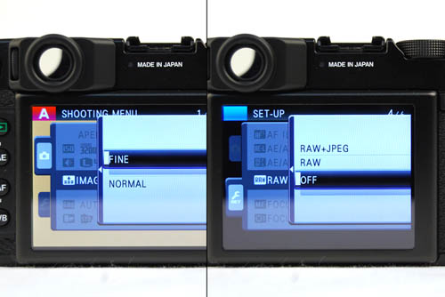 Instead of including the RAW option within Image Quality settings like most compact and DSLR cameras, the RAW option is segregated away in the Set-Up, not Shooting menu.