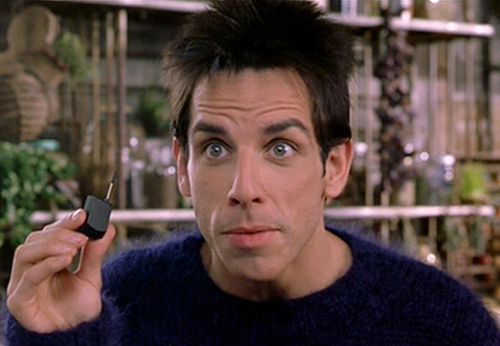 Derek Zoolander's ridiculously small cellphone.