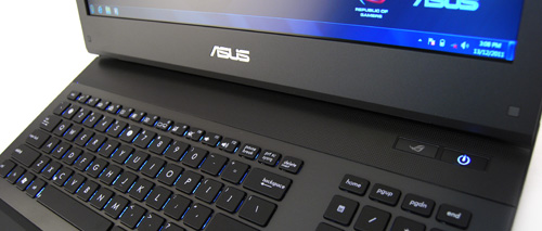 Audio is provided via a single speaker bar found above the keyboard.