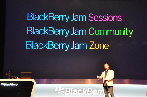 """Are you ready to jam?"": the BlackBerry Jam initiative will hopefully encourage more developers to collaborate on, discuss about and develop ""business opportunities"" on the BlackBerry platform."