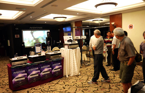 Yamaha's AV suite is tucked away at the third level of The Parkroyal. Judging from the attendees present, it is apparent the event has attracted a more mature following of AV enthusiasts.
