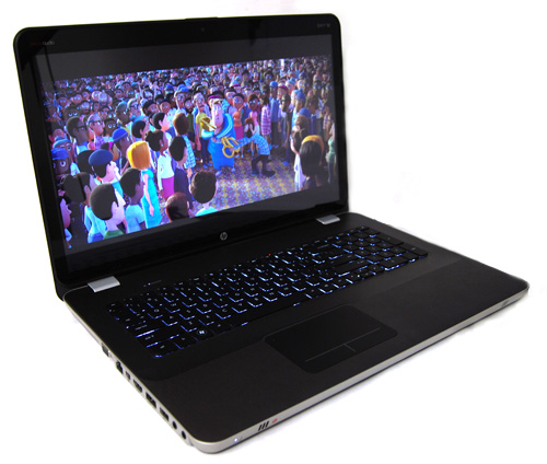 The bright, full HD display is one of the highlights of the Envy 17 3D (seen here in 2D mode).