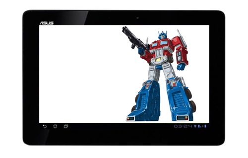 No, this is not the Optimus Prime you're looking for inside the ASUS Eee Pad Transformer Prime.