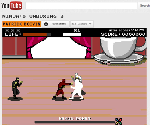 Pow! Smack! Wham! Get a dose of retro beat'em up gaming with the unboxing video for Google's third Nexus smartphone. (Source: YouTube)