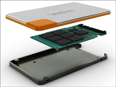 SSD such as the one pictured here do not have any movable parts like normal HDDs. This makes them considerably more durable and better performing.