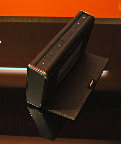 The speaker is incapable of remaining upright and stable without the cover folded out as shown in this picture.