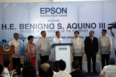 Epson Marks Opening of New Factory, President Aquino Bears Witness