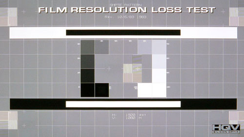 HQV Film Resolution Loss Test: Designed to test a TV's ability to apply the appropriate inverse cadence algorithms, we are glad to announce that the PZ950 passed with flying colors.