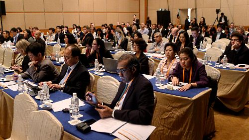 The crowd at the summit comprising Microsoft representatives and partners