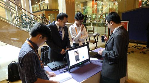 One of the demonstration booths also included a preview of Windows Phone 7