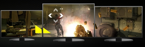 AMD EyeFinity 2.0 has a new flexible bezel support feature that allows users to mix displays of different screen sizes in a multi-display environment.