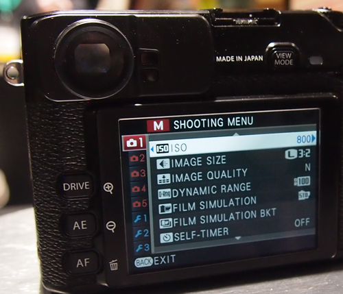 Given a choice, we'd prefer the LCD display over the electronic viewfinder.