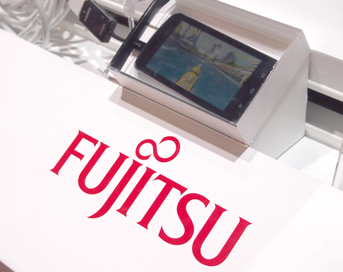 Unfortunately, the quad-core Fujitsu smartphone was locked and sealed from our attempts to get a hands-on with it.