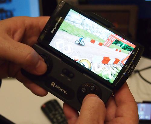 The Gametel wireless Bluetooth controller is compatible with iOS and Android devices.