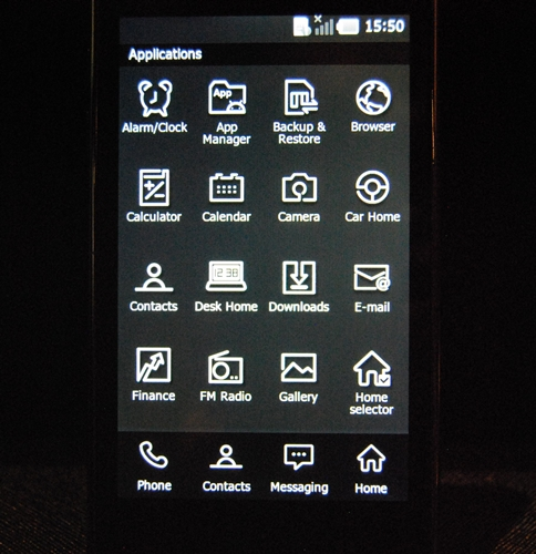 Key applications come with default monochrome-styled icons. While it goes with the theme, it also sort of reminds you of very entry-level phones from not too long ago that were sporting monochrome displays.