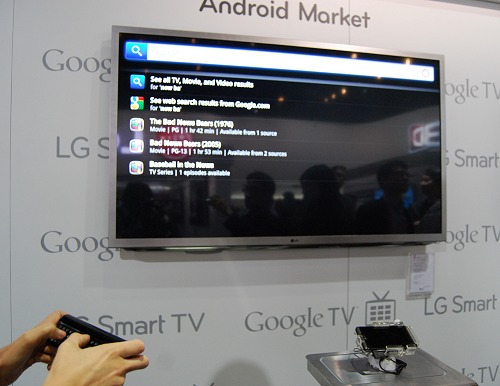 LG's Google TV enabled tellies come with a Magic Remote QWERTY controller for easy navigation and quick input of text strings.