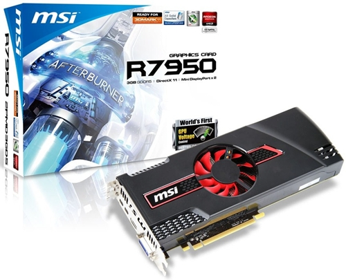 The MSI R7950-2PMD3GD5/OC features the AMD Radeon HD 7950 GPU that has been overclocked to 830MHz (about 4% higher than its default clock speed of 800MHz). We wonder if 4% increment warrants the OC label.