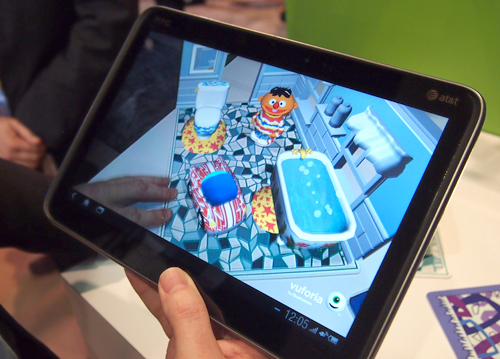 ...are all captured and turned into interactive playsets via augmented reality.