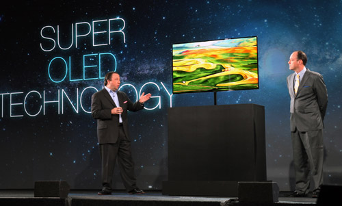 Samsung's 55-inch Super OLED TV was also unveiled at CES 2012, with the unit to be displayed at the Samsung booth. (Source: Samsung)