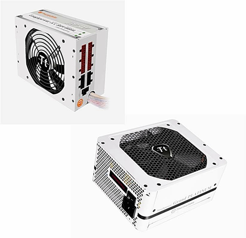 Thermaltake TPX 1275W and TPG 700W Snow Edition PSUs.
