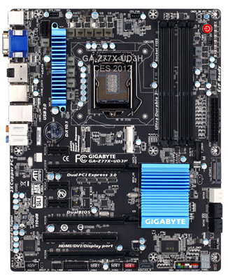 The Gigabyte GA-Z77X-UD3H board bears a slight resemblance to the GA-Z68X-UD3H-B3 in terms of its layout.