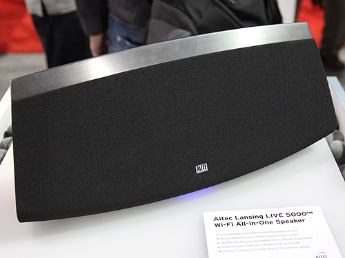 The Altec Lansing LIVE 5000 Wi-Fi all-in-one speaker.