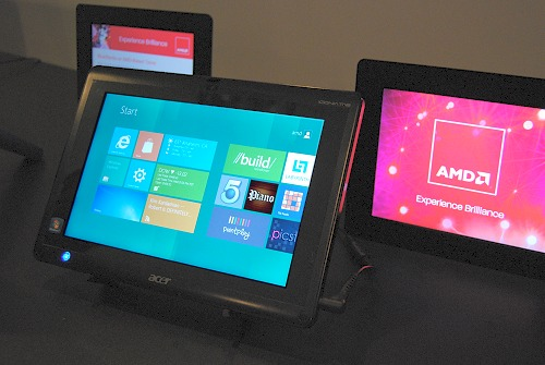 Acer's Iconia Tab W500 with AMD's C-50 Ontario Fusion processor showcased that it's well equipped to tackle the upcoming Windows 8 OS.