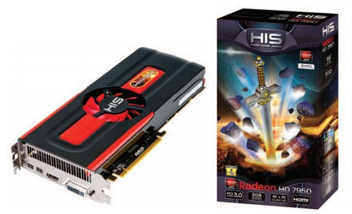 Meet another stock edition graphics card, the HIS 7950 Fan 3GB GDDR5 PCI-E DVI/HDMI/2xMini DP. It's seriously a mouthful and we hope their future iterations of cards have model names that are easier to recall.
