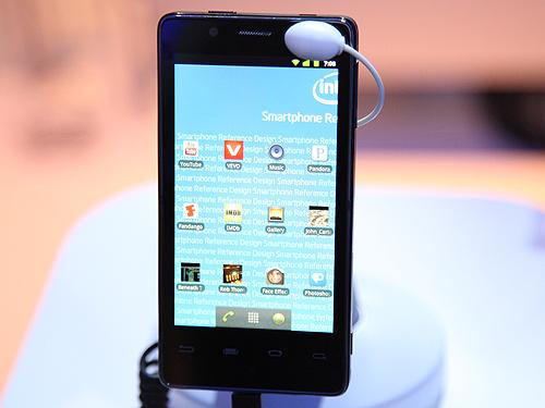 Intel's smartphone reference design based on the Intel Atom Z2460 processor.