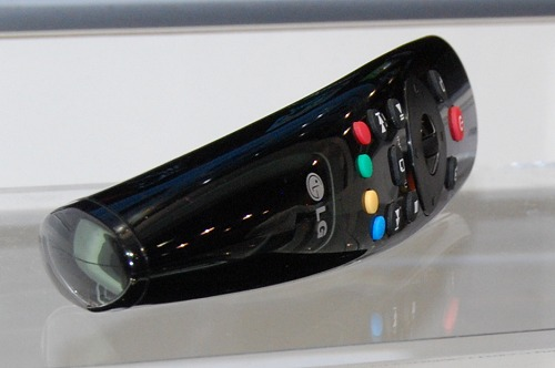 Here's an iteration of LG's updated Magic Remote controller; this specific edition is bundled with their Smart TV upgrade kit SP820.