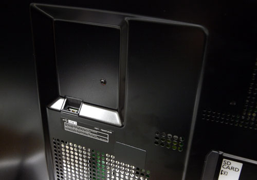 A lone USB port is located at the back panel. Given its vertical alignment, we reckon Panasonic placed it in such a manner to make it convenient for users to access it when the display is resting on its stand. To add, it's probably reserved for the Wi-Fi adapter as well.