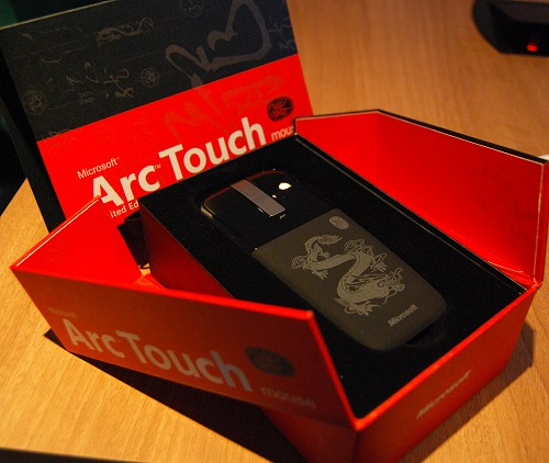 The Arc Touch Mouse Artist Edition - Year of the Dragon is quite a mouthful in name, but we assure you it's a memorable design apt for this season.
