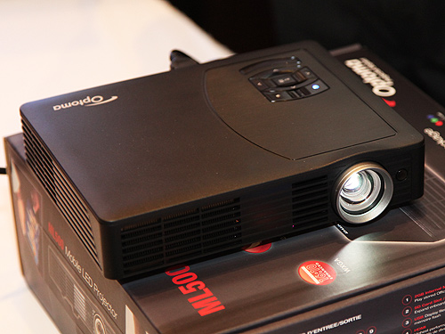 The Optoma ML500 LED mobile projector.