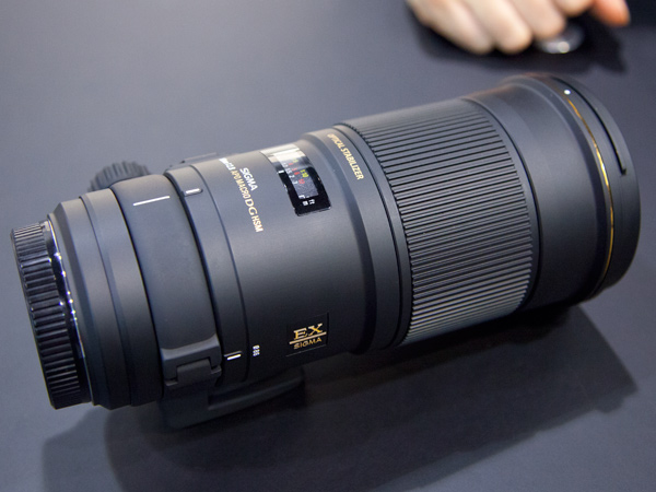The new Sigma APO Macro 180mm F2.8 EX DG OS HSM lens for full-frame DSLR cameras.