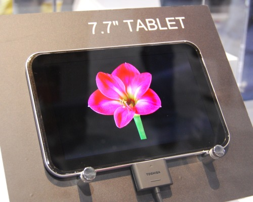 The 7.7-inch tablet looks to be a handy size, but it's not really suited for web usage as you would likely have to zoom in and out on each webpage. Instead, it's better suited as an e-book reader or as a media playback device.