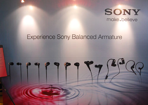 Sony is hoping to case a big splash with 11 new models featuring their new Balanced Armature technology.