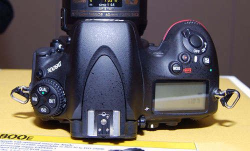 The top of D800's mode dial now includes a bracketing (BKT) mode button.