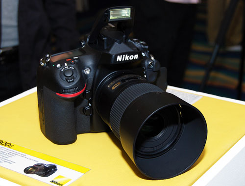 The D800 is 10% lighter than the D700.