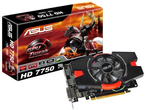 ASUS HD 7750 (HD7750-1GD5) <br> Core Clock: 820MHz <br> Memory Clock: 4600MHz
