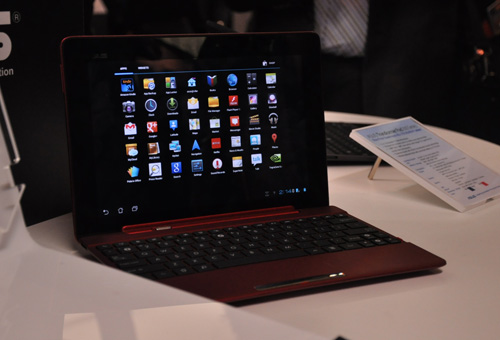 The Transformer Pad 300 Series comes in red...