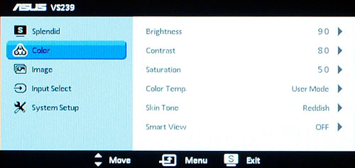 Most presets will allow you to adjust at least the brightness, contrast, color temperature, and Smart View settings.